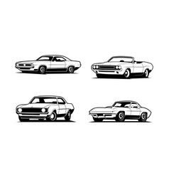classic car collection vector image