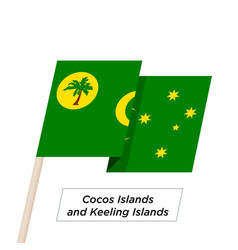 cocos islands and keeling islands ribbon waving vector image