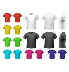 Colorful male t-shirts vector