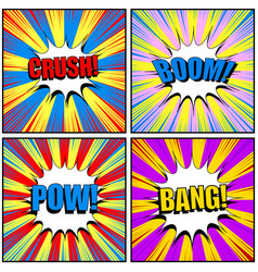 Comic book pages colorful collection vector