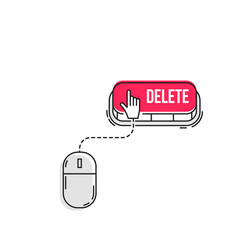 computer mouse clicks cursor vector image