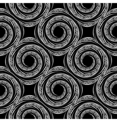 Design seamless spiral movement background vector image