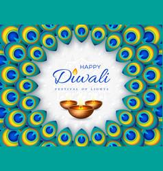 Diwali festival holiday design vector