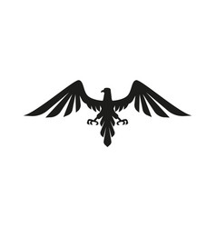 eagle black icon vector image