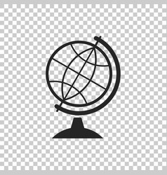 earth globe icon on transparent background vector image