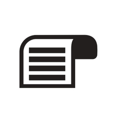 Flat icon in black and white document vector image