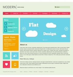 Flat Web Design Template vector