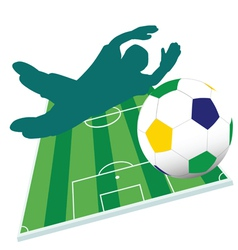 football player color vector image