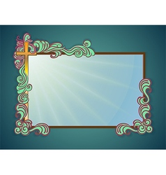 Frame religious text vector image