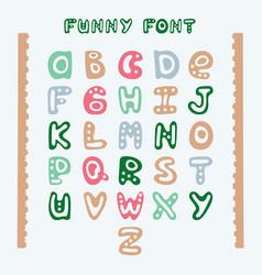 Funny hand-drawn english alphabet vector