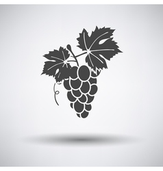 Grape icon on gray background vector