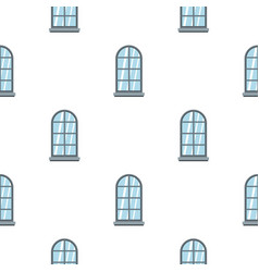 gray arched window pattern flat vector image