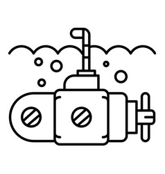 guard submarine periscope icon outline style vector image