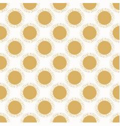 Half-drop gold sun seamless vector