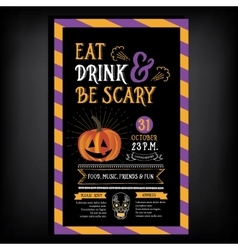 Halloween party invitation Holiday card vector