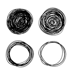 hand-drawn scribble circles abstract doodle vector image