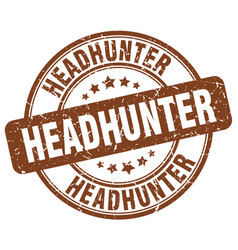 Headhunter brown grunge round vintage rubber stamp vector