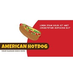 Hotdog food menu banner template vector