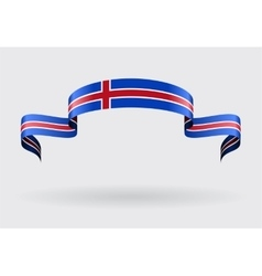 Icelandic flag background vector