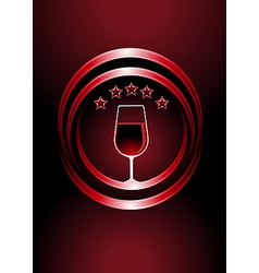 Icon for premier vintage wines vector image