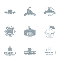 Important vote logo set simple style vector