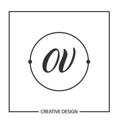 initial letter ov logo template design vector image