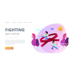karate camp concept landing page vector image
