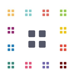 list flat icons set vector image