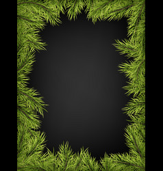 luxury invitation poster frame of pine fir vector image