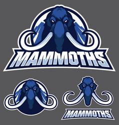 mammoth mascot logo vector image