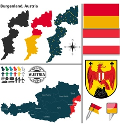 Map burgenland vector