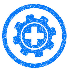 medical settings rounded grainy icon vector image