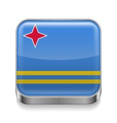 Metal icon of aruba vector