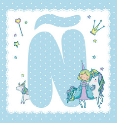 n alphabet letter for kids vector image