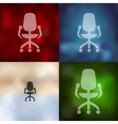 office chair icon on blurred background vector image
