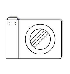 photo camera icon in black silhouette vector image