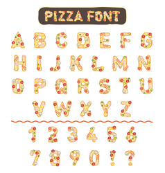 pizza font vector image