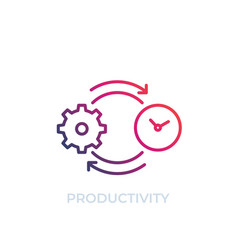 productivity icon line art vector image