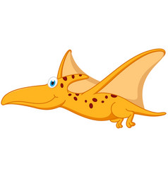 pterodactyl dinosaur cartoon vector image