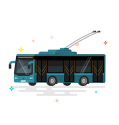 public transport trolleybus vector image