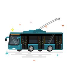 Public transport trolleybus vector