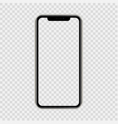 Realistic smartphone the shape a modern mobile vector