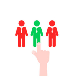 recruitment process like employee select vector image