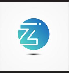round symbol letter z design minimalist vector image