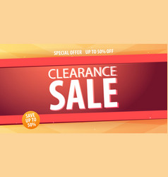 sale banner or flyer design with gifts discount vector image