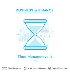 sand clock time management symbol on white vector image