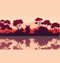 Scenery of rain forest vector