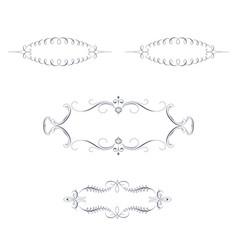 set of decorative ornamental frames vector image