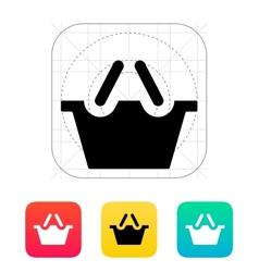 Shopping basket icon vector