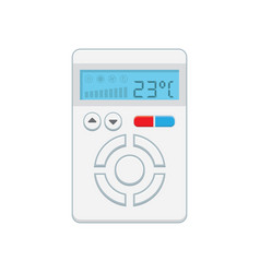 temperature controller electronic thermostat with vector image
